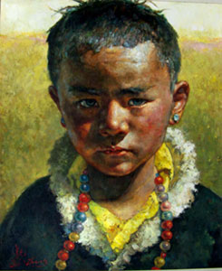 """Tibetan boy"" by Christopher Zhang"